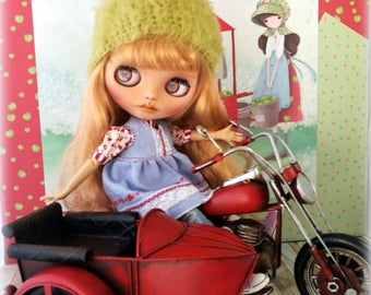 Moto para blythe, motocicleta para blythe,moto,  moto metálica, moto de juguete, moto para pullip.  Escala 1.6. perfecto para fotos exterior