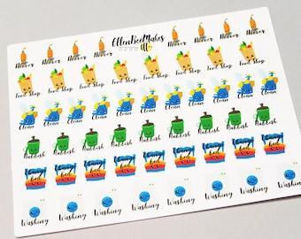 Kawaii Chores Stickers
