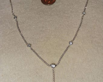 tiny silver chain with 7 crystals
