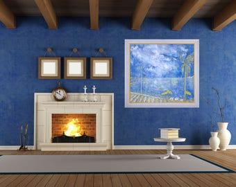 Provence Seascape Painting, Giclée Blue Print, Canvas Print, Impressionist Style, Modern Wall Art, Print Classic Art, Seashore Painting