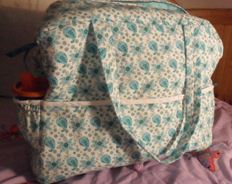 Diaper Bag, Nursing Cover, and Changing Pad Set