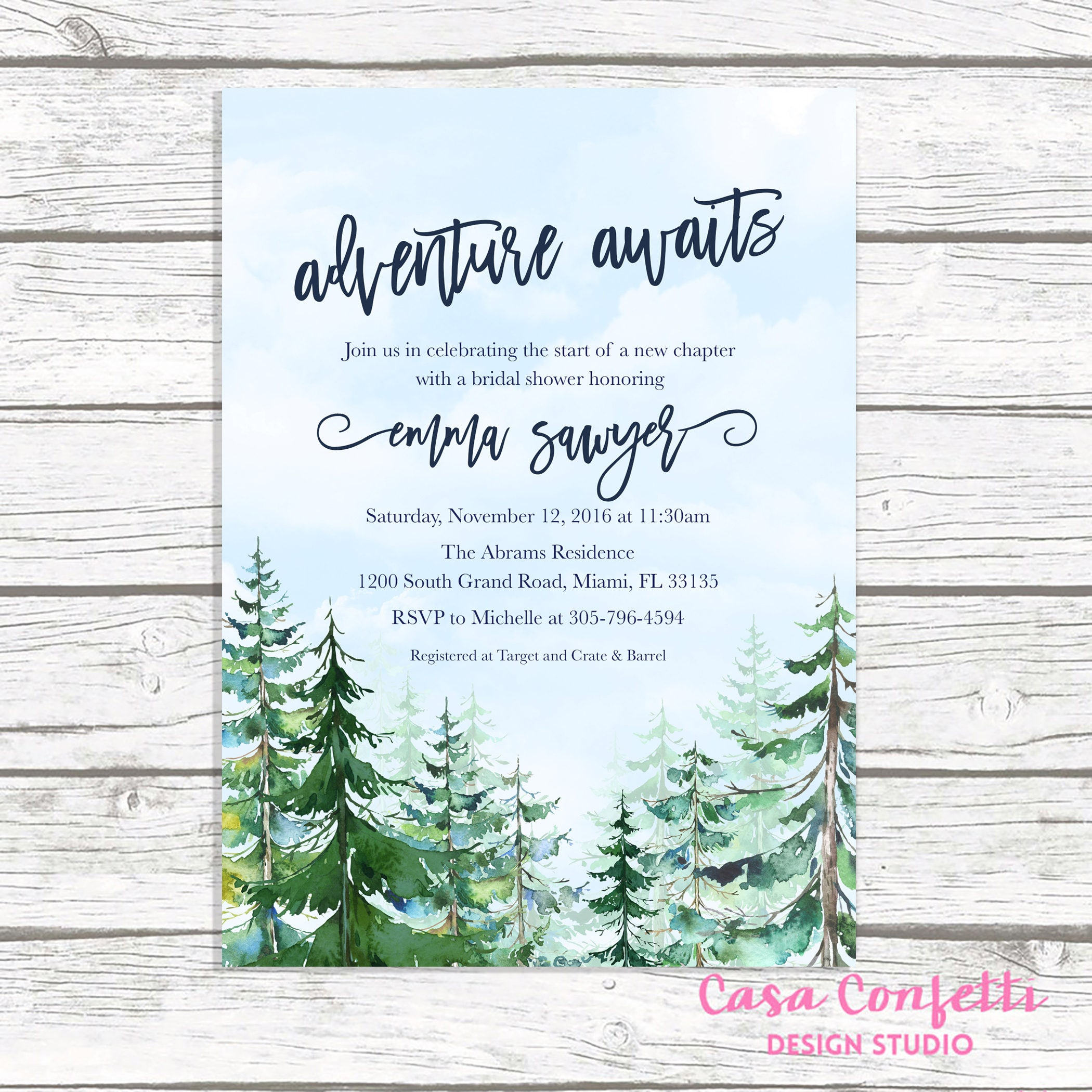 Adventure bridal shower invitation mountain bridal shower adventure bridal shower invitation mountain bridal shower invitation conifer trees bridal shower winter bridal shower adventure awaits filmwisefo Choice Image