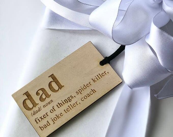 Dad Ornament & Tag - Acrylic or Wood