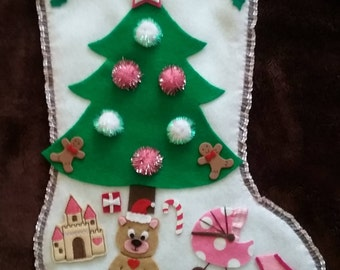 Santa's Gifts for Girls Christmas Stocking
