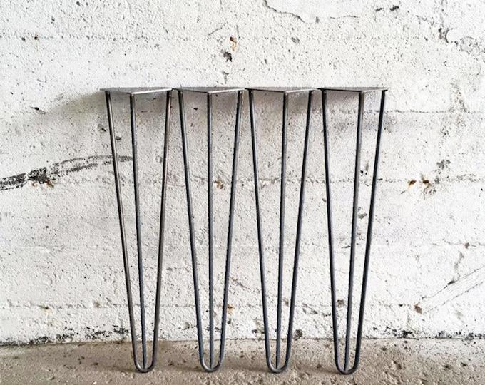 Featured listing image: Ensemble de 4 Pieds en Épingles en acier brut | 27'', 28'', 29'' Pouces