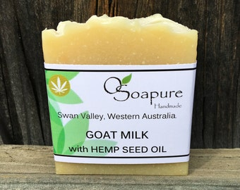 Goat Milk Soap with Hemp Seed Oil   Cold Process Handmade