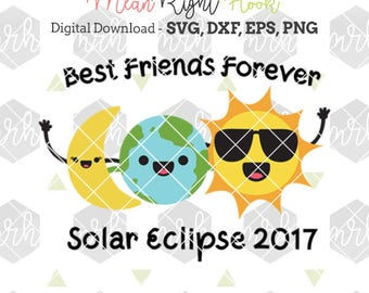 Best Friends Eclipse Svg, Eclipse Shirt svg, Solar Eclipse svg, Moon Svg, Sun Svg INSTANT DOWNLOAD for cutting machines - svg, png, dxf, eps