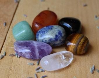 7 Chakra Stone Set Meditation Stones 7 Chakra Crystal Set Tumbled Chakra Set Seven Chakra Stones Altar Crystals Chakra Balancing