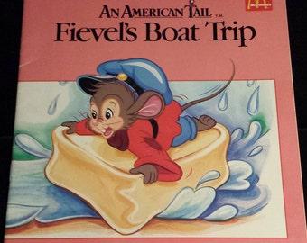 Vintage 1986 An American Tail: Fievel's Boat Trip, McDonalds Books