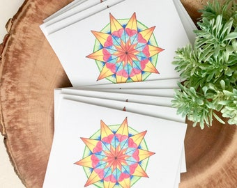 Prosperity Star Amulet Handmade All Occasions Notecards (set of 10)