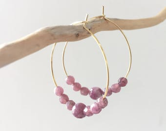 "Creole gold and lepidolite ""kate"""