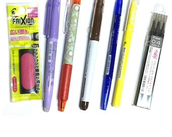 Frixion Random Sampler Set: 5 pens + 1 eraser + 3 refills