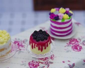 1:12 blackberries cake Doll House