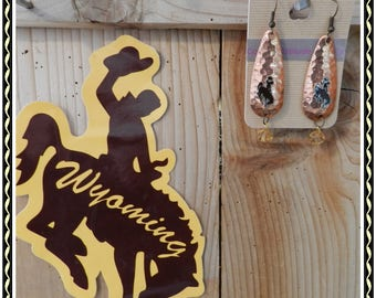 Wyoming Bucking Horse Earrings