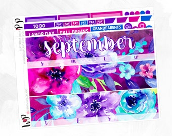 September Monthly Kit | Matte Glossy Planner Stickers
