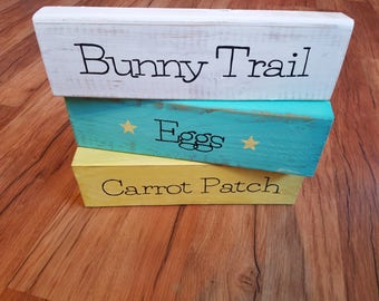 Easter Blocks, Wooden Easter Blocks, Wooden Easter Sign, Easter sign