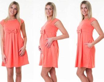 Dress maternity dress loop Summerdress maternity dress coral