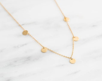 Coin Necklace / Gold Bohemian Necklace / Boho Necklace / Dainty Coin Necklace / Dainty Layering Necklace