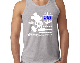 Disney inspired Family Cruise personalized tank top 42mt