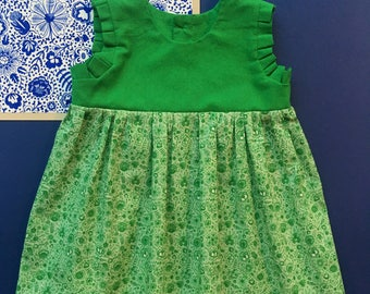 Little dress - Green Delft