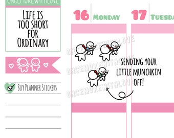 Munchkins -  Mom Life Sending Kid Off Planner Stickers (M315)