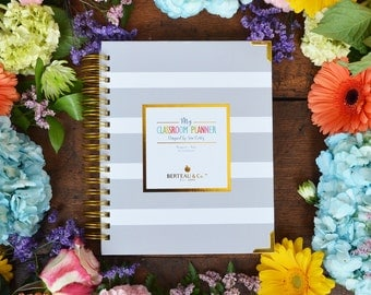 My Classroom Planner - Gray Stripe Cover