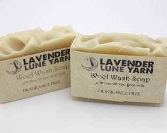 Unscented Wool Wash - Goats milk and lanolin soap