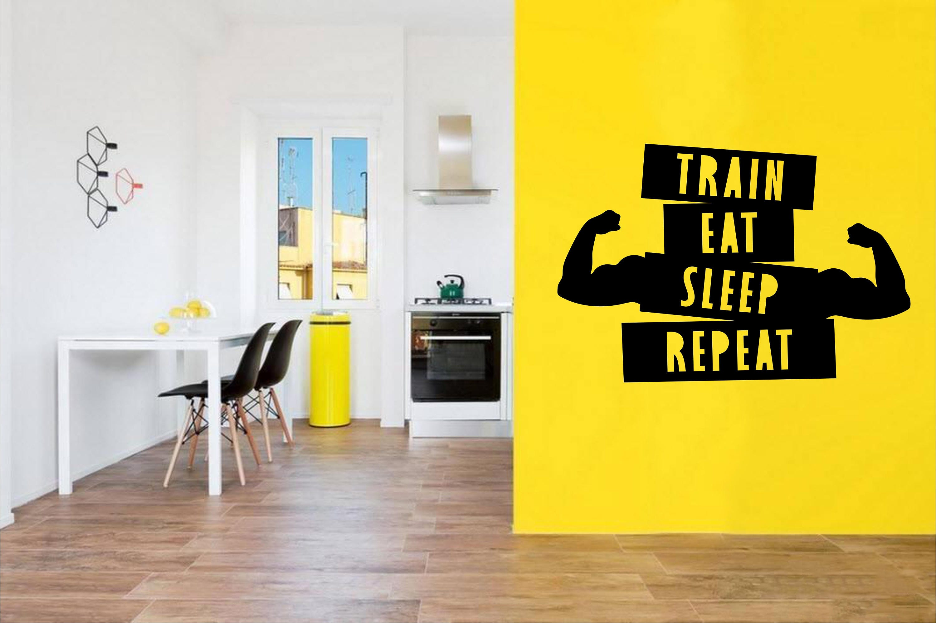 Train Eat Sleep Repeat Motivational Fitness Wall Decal for ...