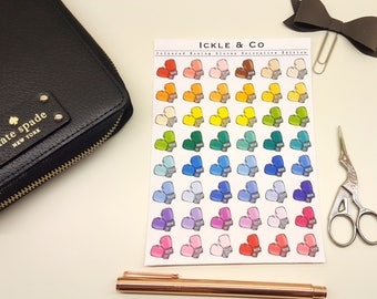 GLOSSY / PREMIUM MATTE  Coloured Boxing Gloves / Workout Planner Stickers Decorative Edition
