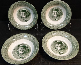 "FOUR Royal China The Old Curiosity Shop Berry Bowls 5 1/2"" Set of 4 EXCELLENT!"