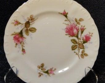 """Fine China of Japan Royal Rose Salad Plate 7 1/2"""" Vintage 50's EXCELLENT!"""