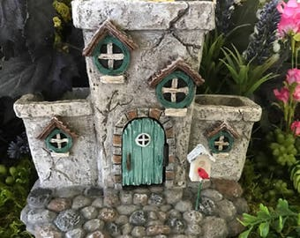 Miniature Fairy House and Planter - Potter Place