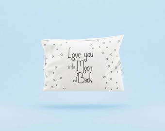 Personalized pillow, Good night, Sweet dreams, Lullaby Pillow,Moon and Stars Pillow, Custom text pillow,Newborn, Kids, To the Moon and Back