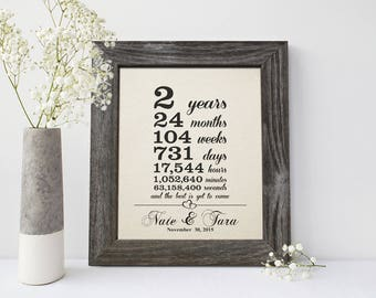 Cotton Anniversary Gift, 2nd wedding anniversary gift, 2 year together gift - CA0106