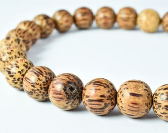 11mm Round  Coconut Beads, Sold by 1 strand of 39pcs, 2mm hole opening , 22.0grams/pk