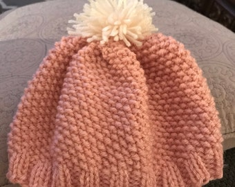 Knit hat with Pom Pom