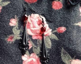 Bride of Dracula Drop Earrings