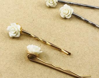 Hair Pins - Flower Bobby Pin Set