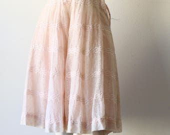 50's Pink Eyelet Party Dress--Study/Pattern Pretty In Pink!