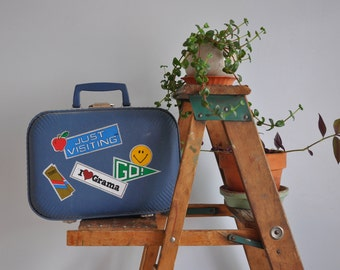Vintage Kid's Just Visiting Grama Suitcase // Small Travel Luggage // Gift Idea