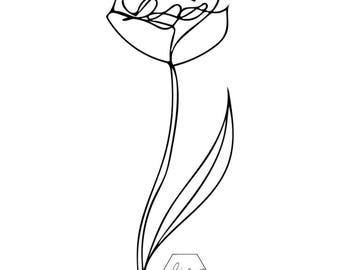 Monoline Rose