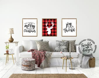 Christmas Wall Art | Etsy