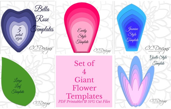 Easy large paper flower patterns printable giant flower templates il570xn mightylinksfo