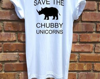 women shirt,women clothing,fashion shirt,white,women tee,workout shirt,save the chubby unicorns,workout shirt,rolled sleeve
