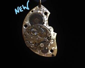 Men's Silver Watch Necklace, Steampunk Jewelry, Men's Steampunk, Steampunk Cosplay, Unique Necklace, Women's Necklace, Unusual, OoAK