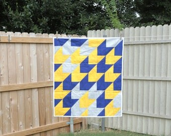 Handmade Baby Quilts, Baby Quilts, Baby Boy Quilts, Baby Shower Gifts, Arrow Quilt