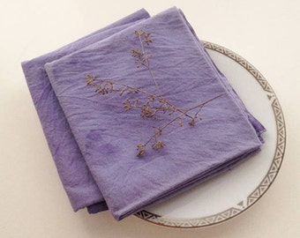 Naturally Dyed Organic Cotton Napkins
