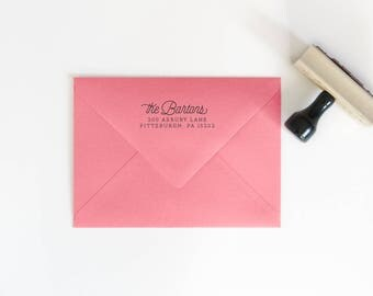 Housewarming Stamp Gift -Custom Rubber Stamp - Return Address Stamp - Christmas Gifts - Gift for Her - Personalized Stamp - RSVP Stamp