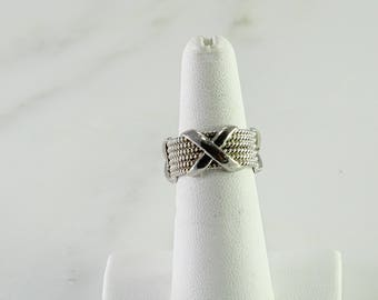 Sterling X Ring Size 6