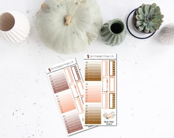 Blush Glitter Page Flags, Habit Trackers or Half Boxes (Matte Planner Stickers) || SeattleKangarooPlans